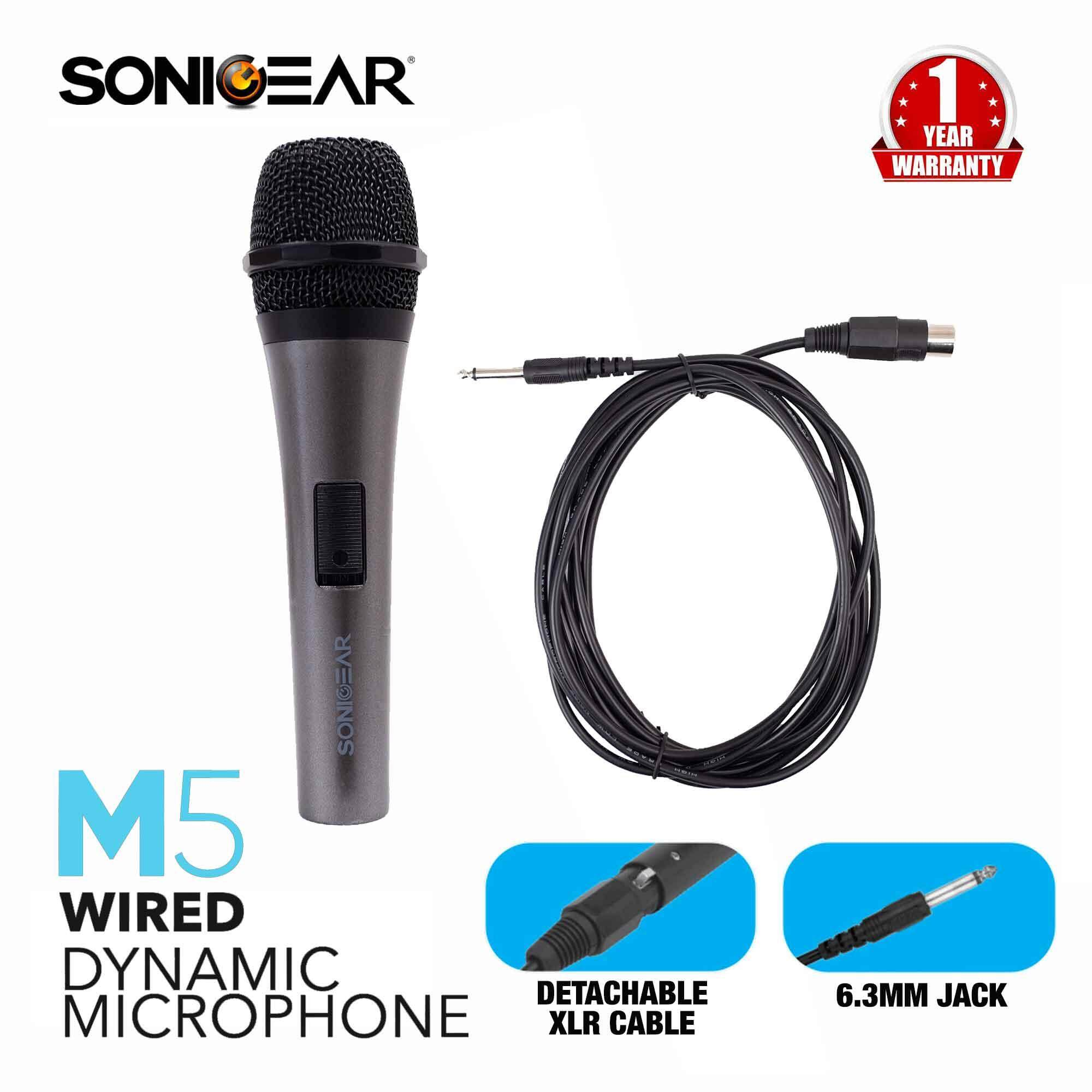 SonicGear M5 Wired Dynamic Microphone
