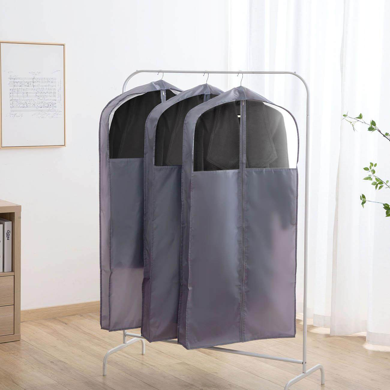 Homenhome Cloth Coat Cover 1 pcs Hanging Clothes Storage Pocket Wardrobe Organizer
