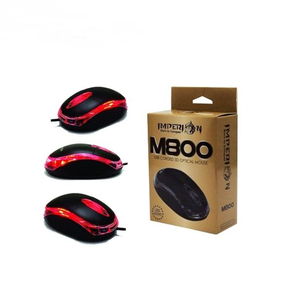 SoloBass M800 800 DPI USB Corded 3D Optical Mouse (LED Light) Laptop Computer Wired Mouse Malaysia