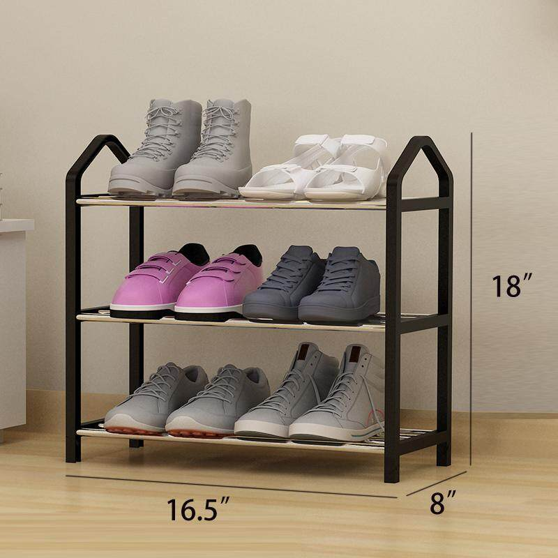 RuYiYu - 3-Layer Amazing Utility Shoes Rack, Stainless Steel Shoe Storage Organizer Cabinet Tower, Heavy-Duty and EASY TO ASSEMBLE