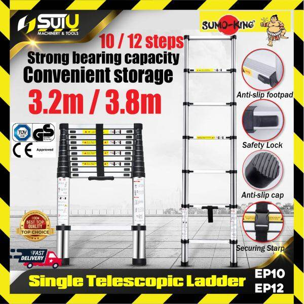 SUMO-KING EP10 / EP12 Single Telescopic Ladder