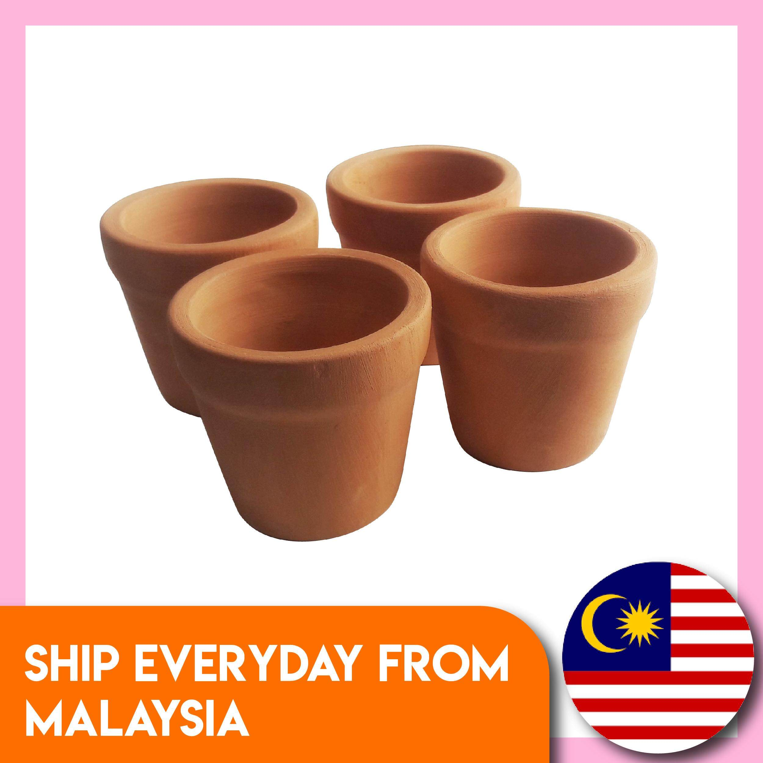 3pcs Terracotta Pots Medium Brown Clay Planter Flower Pots Handmade Plant Container Decorative Succulent Planter Cactus Pot Small Garden Cute Plant Pot Beautiful Succulent Vase Balcony Flower Pot Home Decor