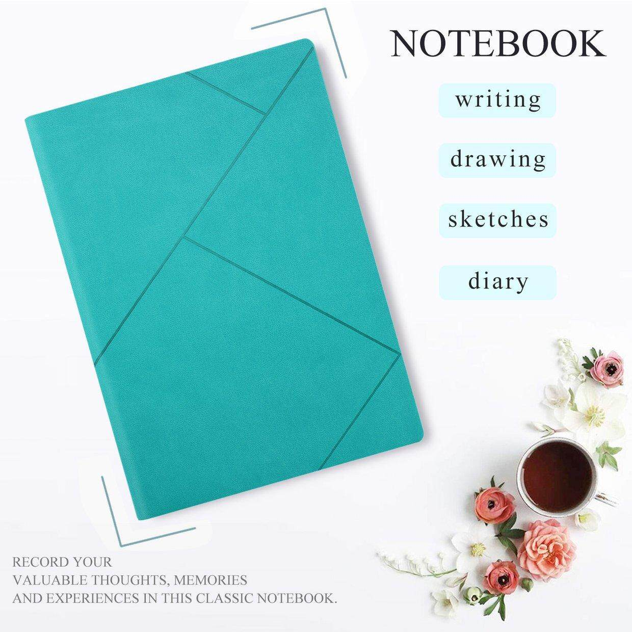 CELE Premium Soft PU Leather A5 Portable Notebook Writing Journal Business Notepad