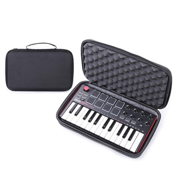 ❁Rondaful❁Instrument Storage Bag for MPK Mini MK2 Keyboard Hard Case Travel Carrying Protective Bag for Mini Play Akai Professional Fire 25-Key Portable USB MIDI Keyboard Malaysia