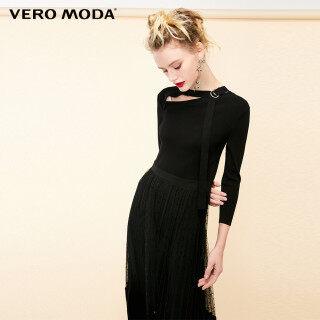 Vero Moda Đầm Nữ Tay Áo 3 4 Cột Lưới Nối Phía Trước, 31937C505 thumbnail