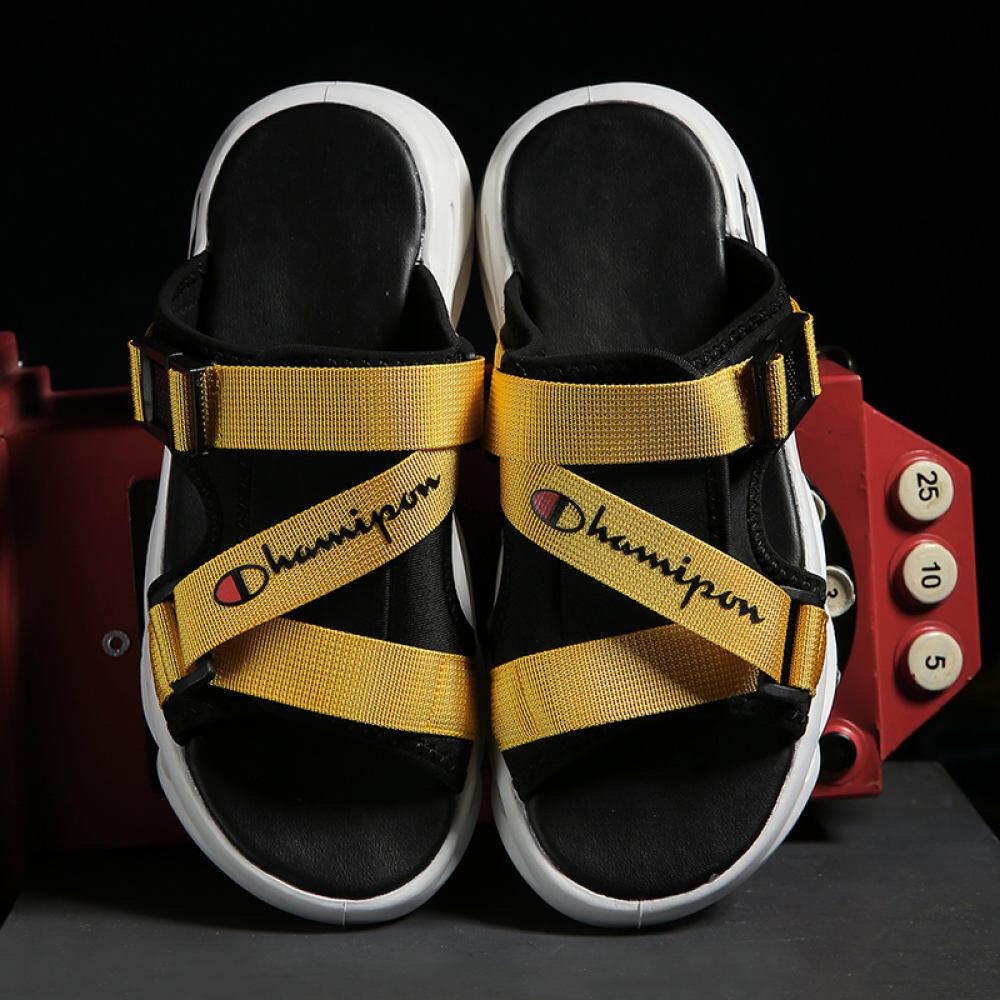 W & R Size 39-44 Dép Xăng Đan Hở Mũi Cho Mùa Hè Xăng Đan Đi Biển Cho Nam Dép Đi Trong Nhà Dép Đế Bằng Giản Dị Sandal Thương Hiệu Thời Trang Hàn Quốc thumbnail