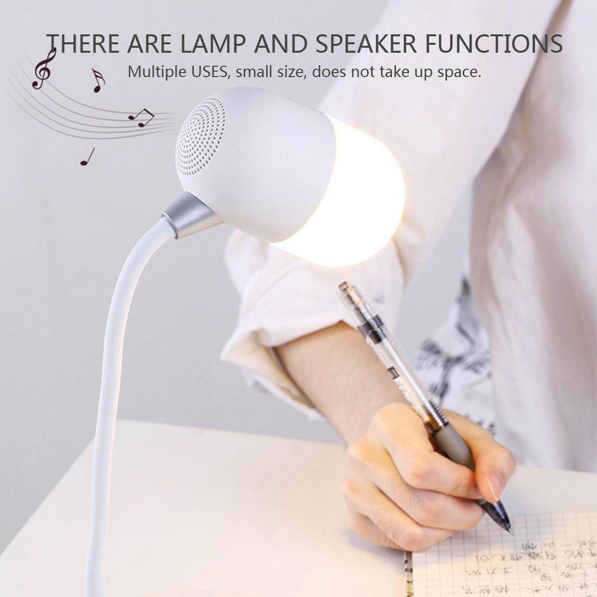 3 In 1 Led Wireless Bluetooth Speaker Smart Touch Light Desk Lamp Rechargeable By Lightyourhome.