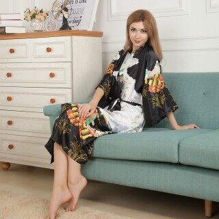 , Áo Choàng Tắm Satin Dài Cho Nữ Áo Choàng Kimono Phù Dâu Cô Dâu Đám Cưới Cô Dâu thumbnail