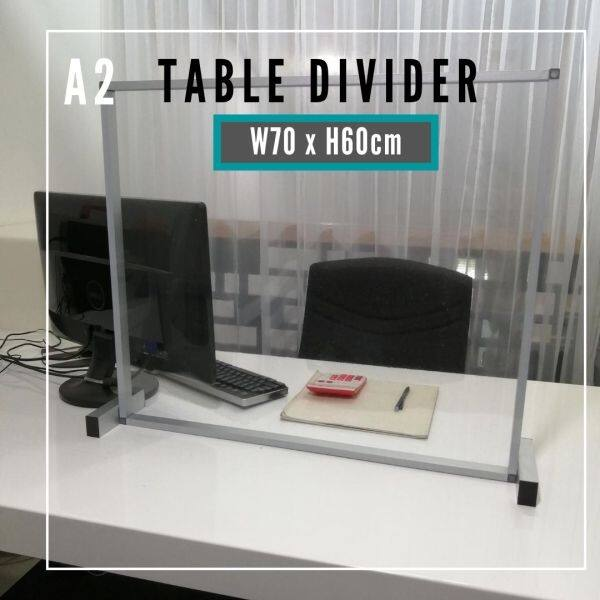 Liveplus A2 -Sneeze Guard Table Divider/Barrier Protector Shield for Social Distancing Restaurant Office Retail Counter School Canteen -(70cm x 60cm) - A Series