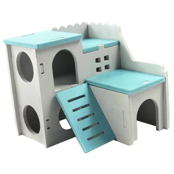 PETSOLA Ngôi Nhà Hamster Bằng Gỗ Nhiều Màu Sắc Ổ Giường Sân Chơi Cho Thỏ Sóc Tập Gym Cho Thú Cưng Ổ Chuột Hamster