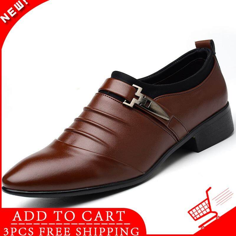 b3619d686520e WJKFGI Luxury Men Formal Shoes High Heels Business Dress Shoes Male Oxfords  Pointed Toe Oxford Shoe