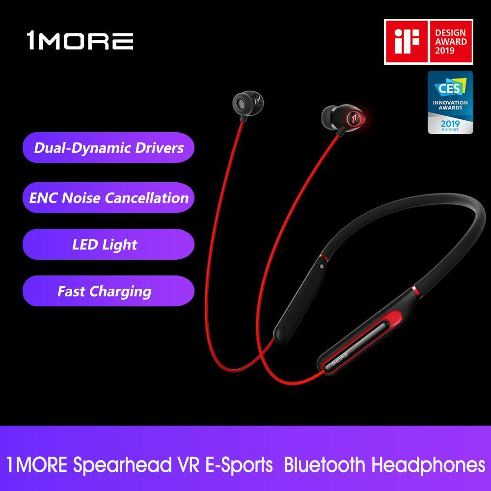 Xiao mi 1MORE Spearhead VR Bluetooth In-ear Headphones E1020BT BT E-Sports Gaming Neckband Earphones With LED Light for Phone Tablets Gamer