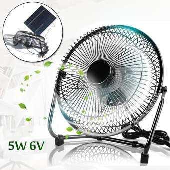 【การจัดส่ง + ข้อเสนอฉับพลัน】5W 6 โวลต์ 6 ''USB Mute แผงพลังงานแสงอาทิตย์พัดลมสำหรับกลางแจ้งระบายความร้อนใหม่-