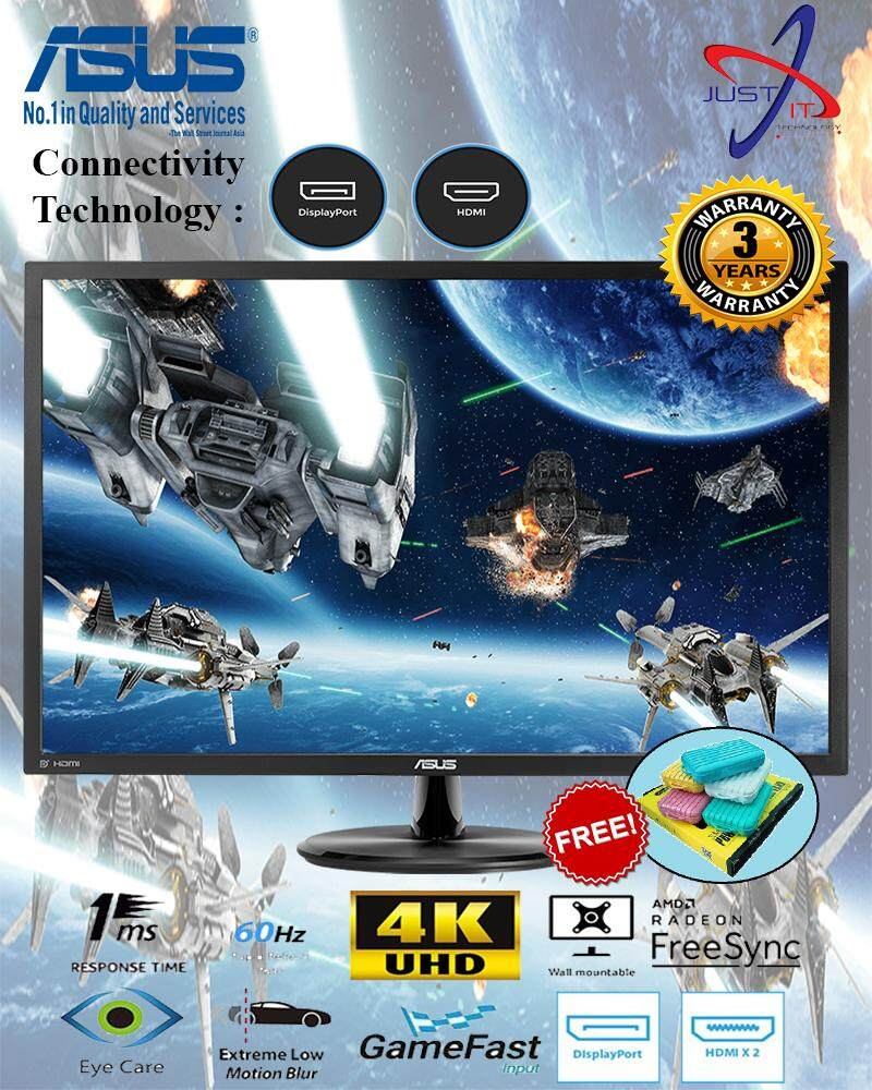 ASUS VP28UQG 28 4K UHD 1MS AMD FREESYNC GAMING MONITOR ( FOC POWER BANK WORTH RM49) Malaysia