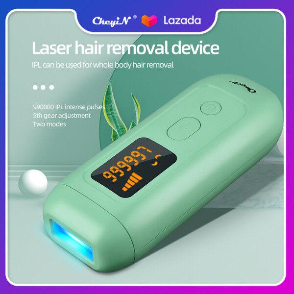 CkeyiN Máy triệt lông vĩnh viễn IPL chuyên nghiệp 990000 xung điện, tẩy lông không đau với 2 chế độ, có màn hình LCD MT118 cao cấp
