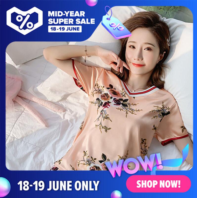 Nơi bán Lụa Băng Phụ Nữ Đồ Ngủ 2020 Dễ Thương Mùa Hè Top Casual Ngắn 2 Mảnh Phù Hợp Với YF03440