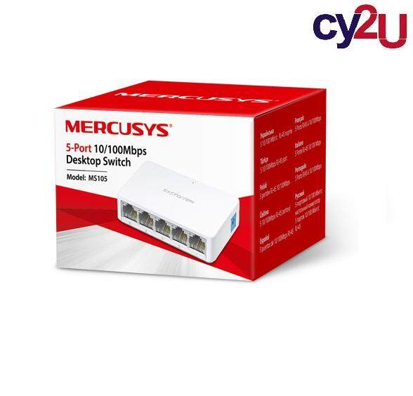 Mercusys MS105 (Powered by TP-Link) 5-Port 10/100Mbps Desktop Network Ethernet LAN Switch