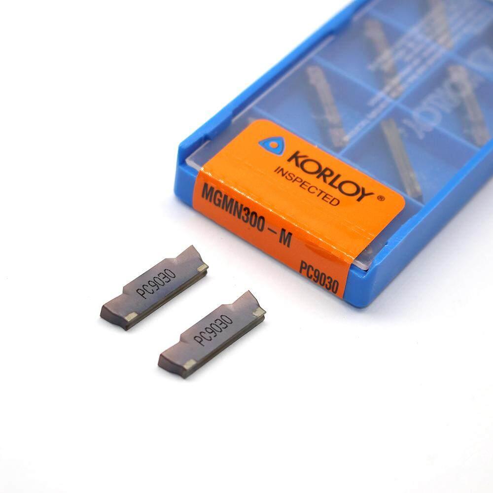 10 CHIẾC MGMN300 M PC9030 Grooving Carbide Miếng Kim Loại Dụng Cụ Quay Rau Dụng Cụ Xoay Tiện Dụng Cụ Cắt CNC Dụng Cụ Mài Dao Tiện dao cắt