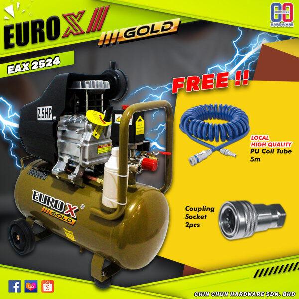 *COMBO 1* EURO-X GOLD|EUROX|EAW-2524|EAW 2524 24L AIR COMPRESSOR|PU COIL TUBE|COUPLING|COMPRESSOR 24L|COMPRESSOR 2524