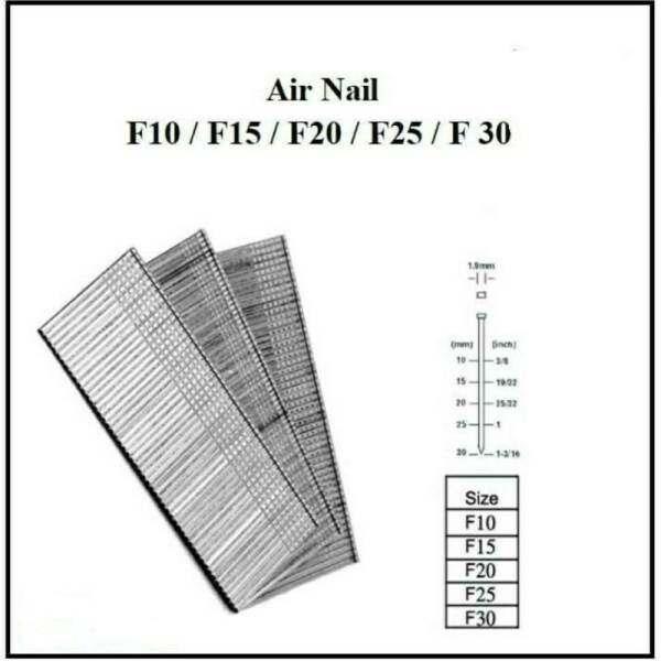 Air Nail Refill Air Gun Nail F10/F15/F20/F25/F30