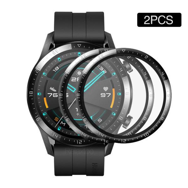 2 Tấm Phim Kính Bảo Vệ Cho Huawei Watch GT 2 E GT2 46Mm 42Mm 2e GT2E, Tấm Bảo Vệ Toàn Màn Hình Bằng Sợi Thủy Tinh Mềm Cong