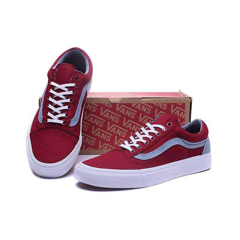 2c384f071d Classic Vans Old Skool Men s low-top Skateboarding Casual Shoes Red white