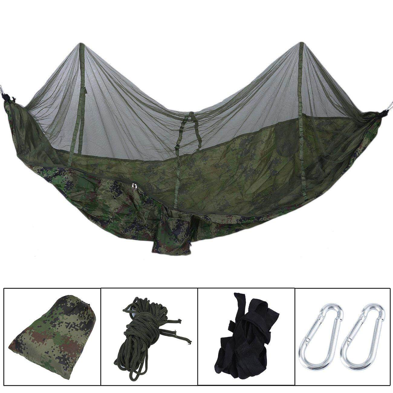 aed8b5255891 Hot Deals 260x130cm Outdoor Camping Sleeping Hammock Hanging Bed Tent With  Mosquito Net