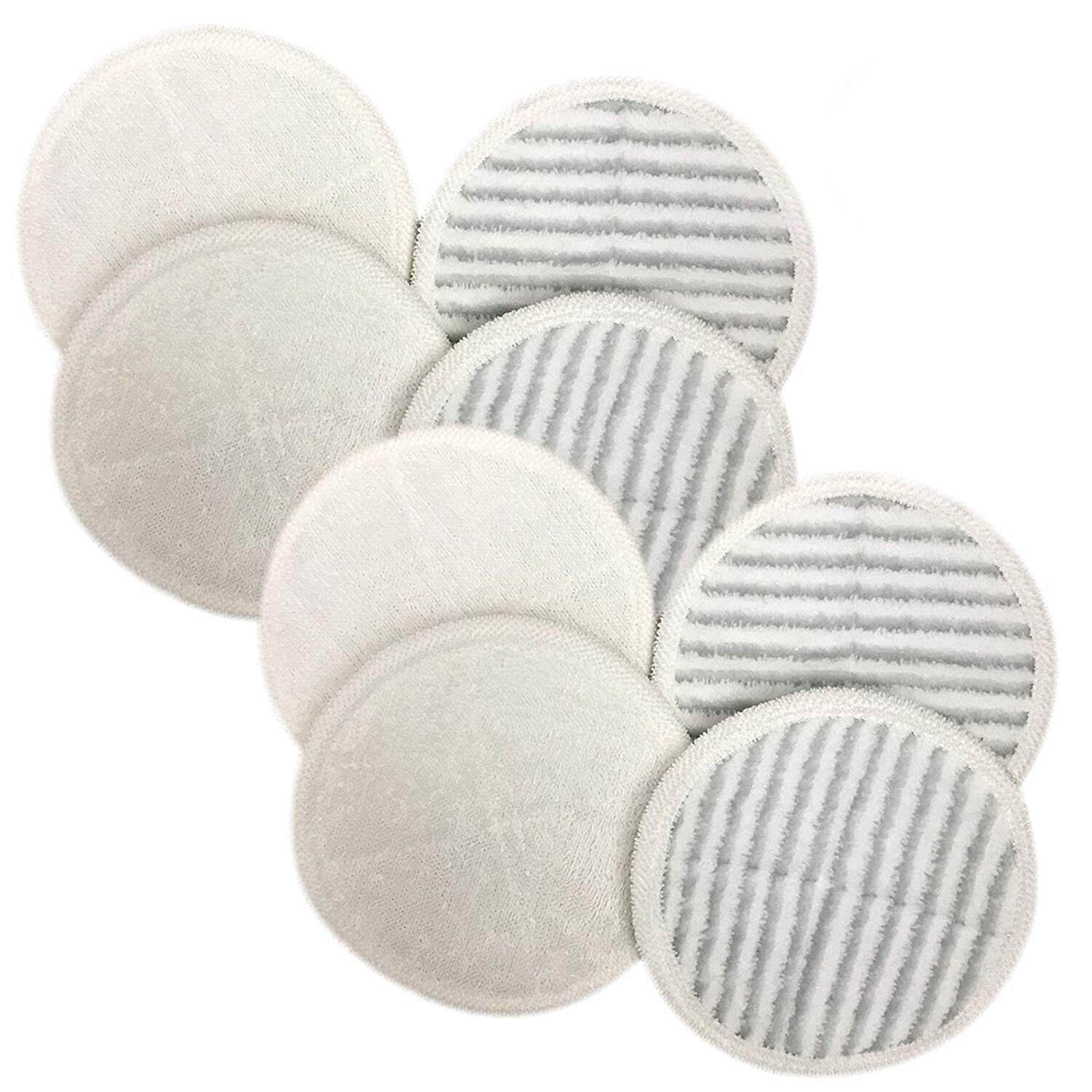 Replacement Mop Pads Compatible With Bissell Spinwave Mop Pad Heads Parts-Perfect For Models 13122,13129,13151,13139-Home And Office Use-Bulk(8 Pack)