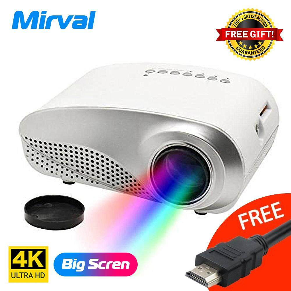 Mirval RD802 LED Mini LCD 4K HD Home Projector Support HDMI VGA USB TF Card  Input Personal Cinema Projectors