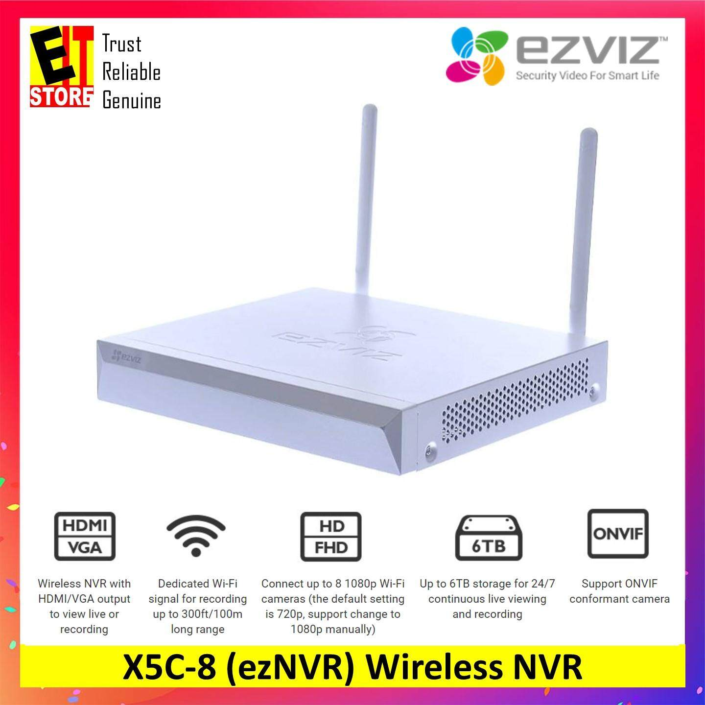 Ezviz Wireless Nvr With Hdmi/vga Output - Vault Live (8 Channel) - Cs-X5c-8 By Eit Store.
