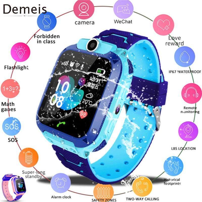 Demeis Q12B Đồng Hồ Thông Minh cho Trẻ Em Điện Thoại cho Android IOS Không Thấm Nước Định Vị LBS 2 Sim Thẻ Dail gọi Dành Quà Tặng bán chạy