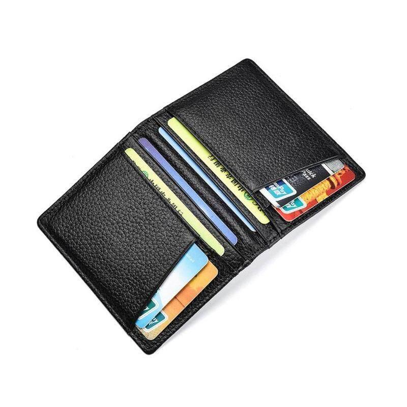 7b913ecb Fashion Men Slim Thin Genuine Leather Bifold Id Wallet Money Credit Card  Holder