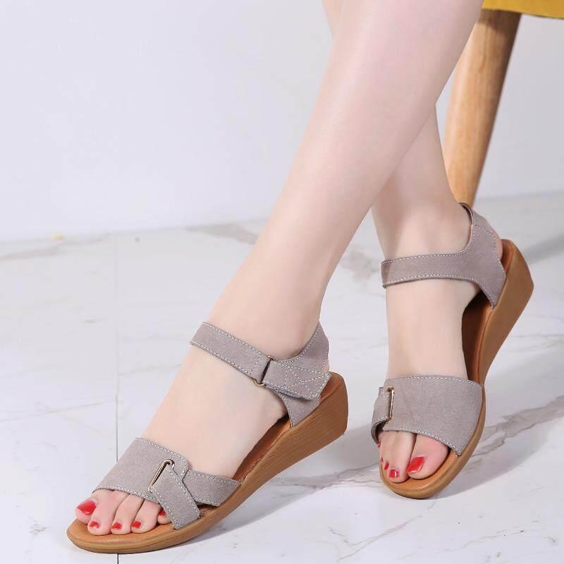 Summer sandals Women Fashion Classic Black Women Wedge Sandals Buckle Slope Summer Shoes Woman