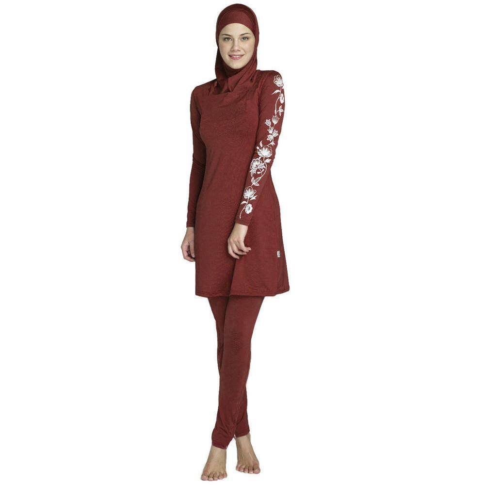 6ea30016ea70d Mlapdada Shop Women Swimwear Sets Print Long Sleeve Muslim Islamic Full  Cover Costumes Modest Swimwear Burkini