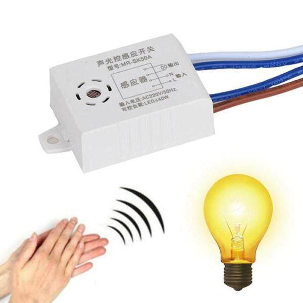 Greo [Sound Sensor Switch] 220V Voice Control Light Sensor Lamp Switch Sound Activate Delay Switch Wall Intelligent Ceiling Lamps Support