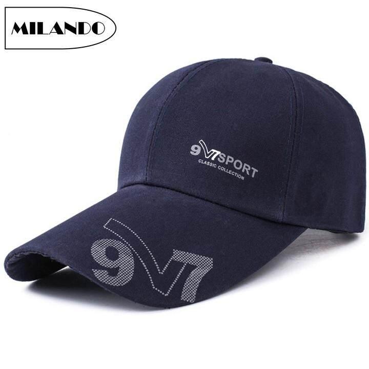 eb2cab77 MILANDO Adult Cap Fashion Hat Casual Running Adjustable Baseball Cap Hat  Topi (Type 5)