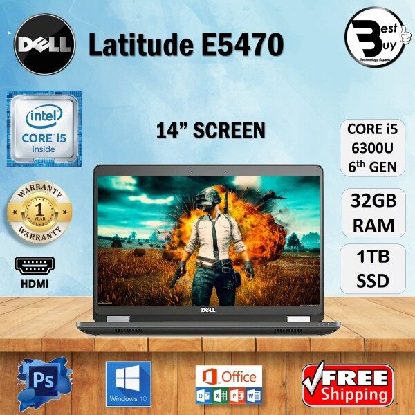 DELL LATITUDE 5470 (SLIM) CORE i5 [6th GEN] 14FHD / UPTO 32GB DDR4 RAM / 1 TB SSD / 14 INCHES HD SCREEN / WINDOWS 10 PRO / Dell Latitude E5470 / REFURBISHED Malaysia
