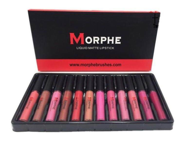 Morphe Matte Liquid Lip Gloss 12 Colors With Two Free Lip Liner By Wow Offers.
