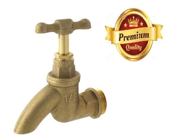 1/2 HIGH QUALITY CITY Kitchen & Bathroom Sink Faucet Brass Bib Water Tap /Kepala Paip Tembaga 🔥READY STOCK🔥