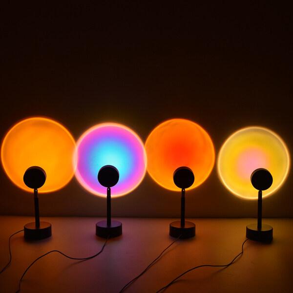 Sunset light Sunset Projector Lamp Led Night Light Live Sunset Light  Factory Direct Sales đèn sunset Bóng đèn chiếu Hoàng hôn Đèn ngủ Led
