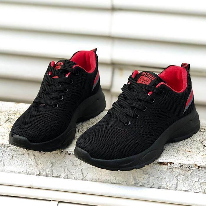 Coupon Khuyến Mãi Giao Hàng Nhanh Nữ Giày Thể Thao Sneaker Thời Trang Thoáng Khí Phối Lưới Đính Nơ Cổ Chống Trượt Thoải Mái Mềm Mại Đáy Giày Thể Thao Sneaker