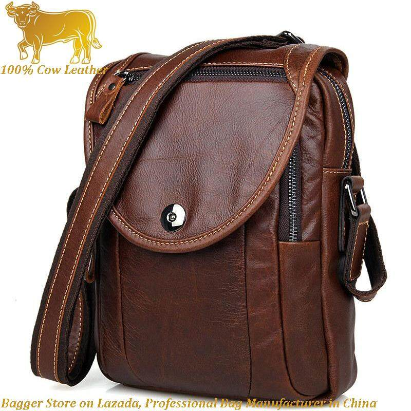 e6d8c7ab65 Retro Italy Genuine Cow Leather Casual Messenger Bag Sling Shoulder Bags  For Men Business Fashion Cool