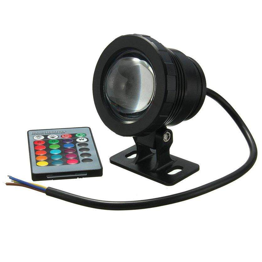 Led Lamps Lights & Lighting Friendly 10w Underwater Spot Light Remote Control Ip68 Fountain Pool Pond Waterproof Uv Aquarium Lamp Rgb Modern Techniques