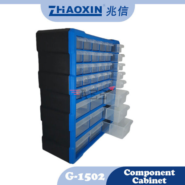 ZX G-1502 39 Drawers Back Hanging Component Cabinet (475x380x160mm) (Blue)