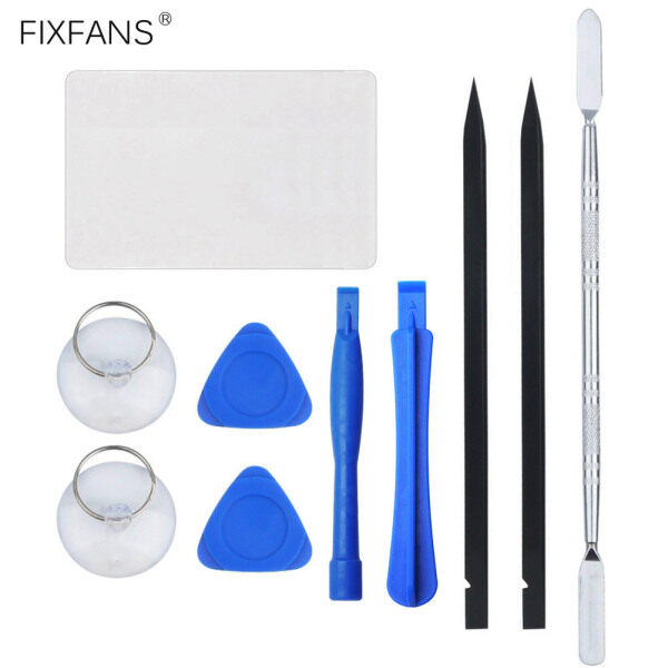FIXFANS 10Pcs Phone Laptop Screen Pry Opening Tool Kit for iPhone iPad iMac, Metal Plastic Spudger and Triangle Opening Picks