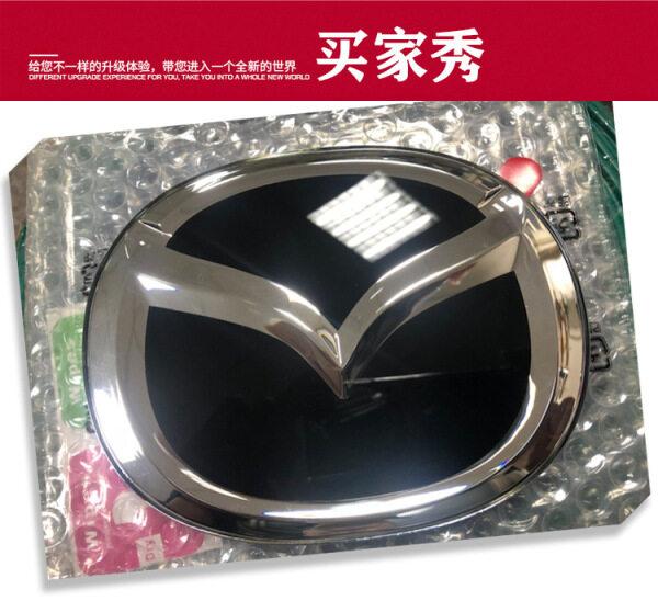 140X110mm Biểu Tượng Lưới Tản Nhiệt Trước Cho Mazda 2 3 5 6 7 8 Vv Huy Hiệu Đầu Ô Tô Logo Biểu Tượng Màu Đen