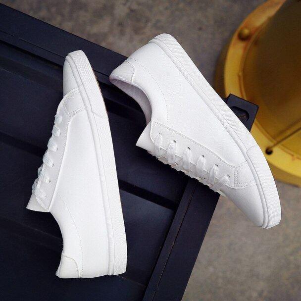 Giày Đế Bằng Giản Dị Cho Nữ, Giày Thể Thao Buộc Dây, Giày Mũi Tròn Thời Trang Mùa Hè 2020, Giày Lưu Hóa, Giày Thể Thao Nữ Màu Trắng, Giày Tennis giá rẻ