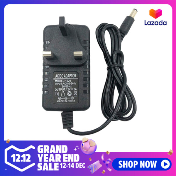 DC 12V 2A AC Power Supply Transformer Adapter Converter Wall Charge Adapter Recharger