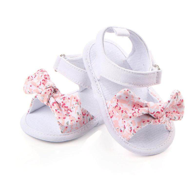 Mother & Kids Sweet Baby Girls Princess Polka Dot Big Bow Infant Toddler Ballet Dress Soft Soled Anti-slip Shoes Footwear Prewalkers New