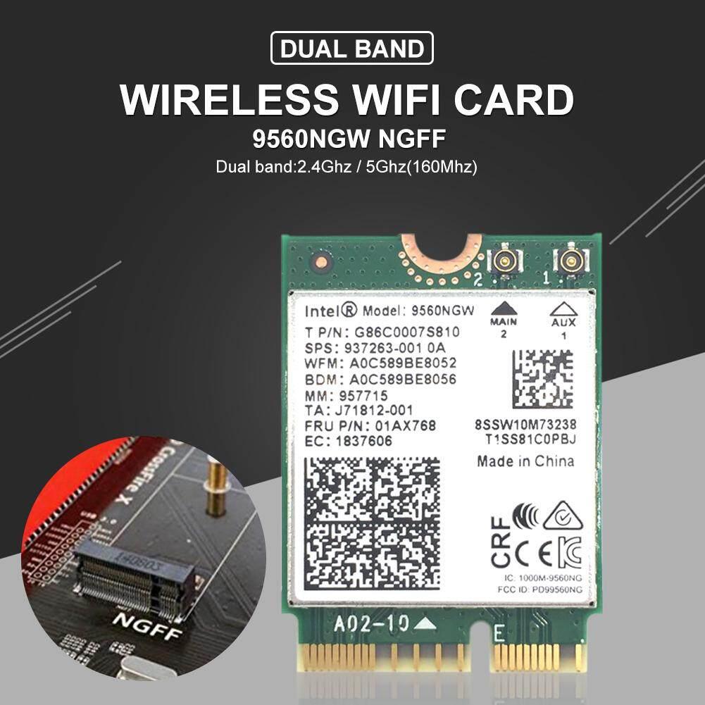 Giá 2 Băng Tần 1.73Gbps Không Dây AC 9560 9560NGW NGFF Phím E Wifi Thẻ 9560AC 8020.11ac Bluetooth 5.0 Dành Cho Laptop Windows 10